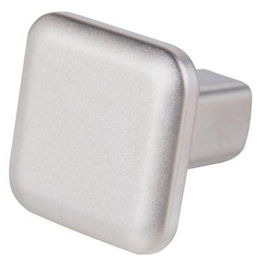Pomo de níquel 20 mm plateado mate