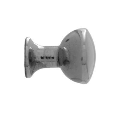 Pomo de cromo ovalado 28 mm plateado