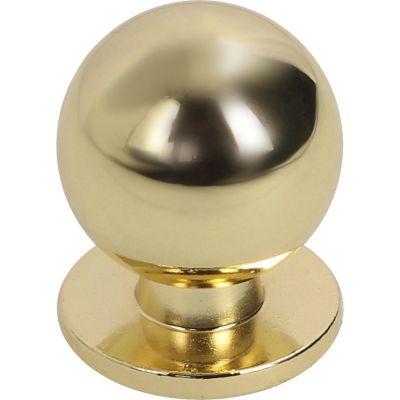 Pomo de latón 22 mm dorado
