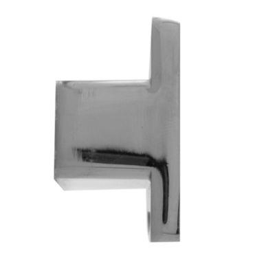 Pomo de aluminio 38 mm blanco y plateado