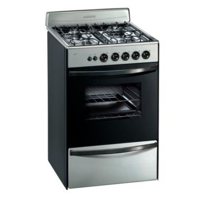 Cocina a gas 13331XF 56 cm 4 hornallas acero
