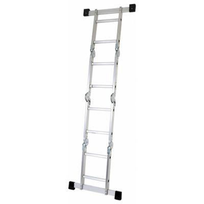 Escalera multipropósito aluminio 8 escalones 2.43 m