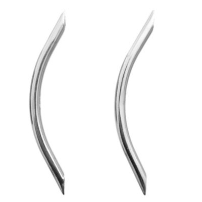 Manija de aluminio oval 128 mm plateada