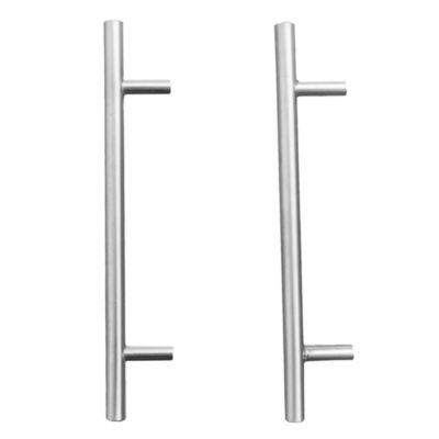 Manija de aluminio 128 mm plateada
