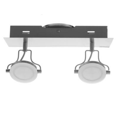 Barra solución 2 luces LED cromo