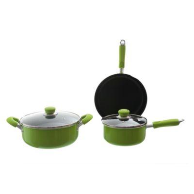 Batería de cocina aluminio verde 5 piezas