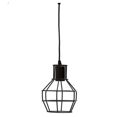 Lámpara colgante vintage jaula negra e27