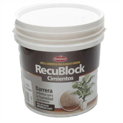Mezcla cementicia para para bloquear humedad Recublock 12 kg
