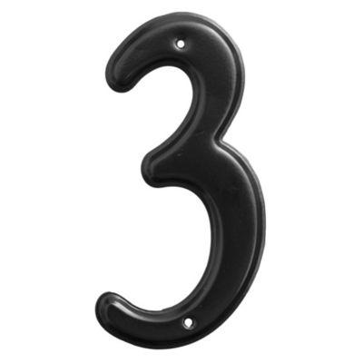 Número 3 negro