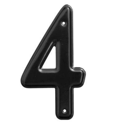 Número 4 negro