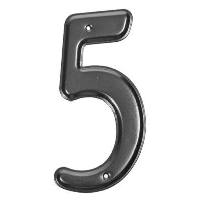 Número 5 negro
