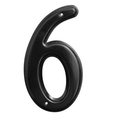 Número 6 negro
