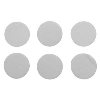 Topes autoadhesivos circulares blancos x 6 u