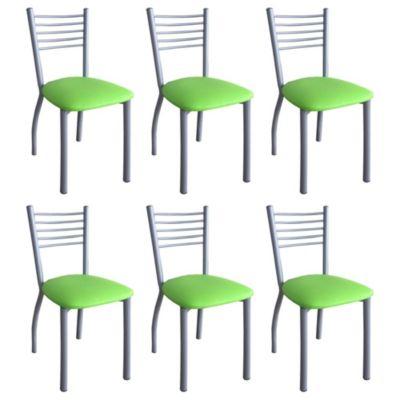 Set de 6 sillas Taomina Gris y verde