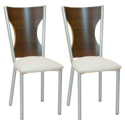 Set de 2 sillas Modena manteca