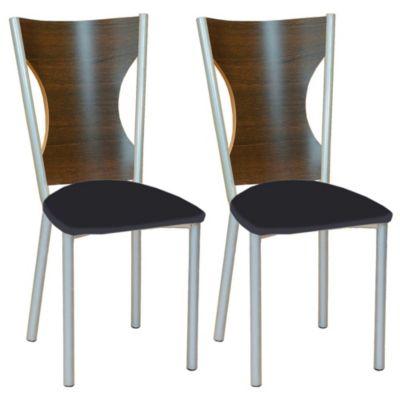 Set de 2 sillas Modena negra