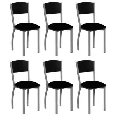 Set de 6 sillas Murcia negra