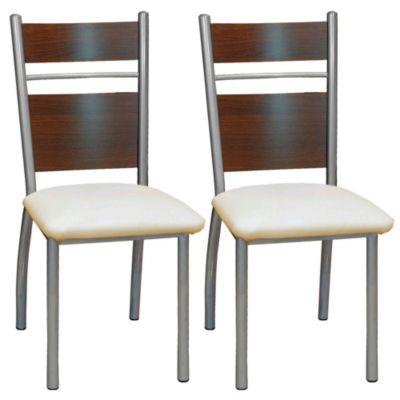 Set de 2 sillas Ruan manteca