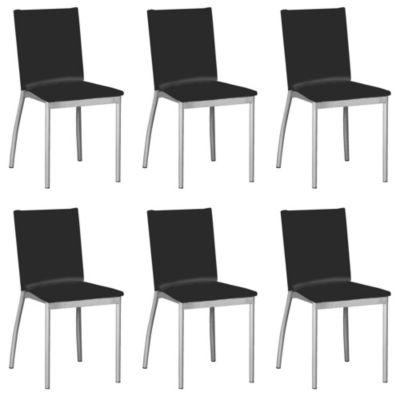 Set de 6 sillas Viedma negra