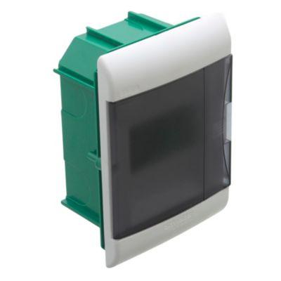 Caja para térmicas embutir 5 polos puerta Fume