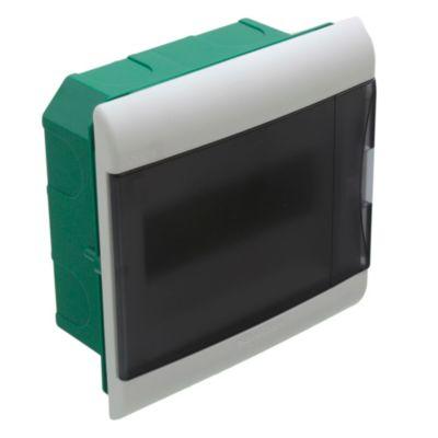 Caja para térmicas embutir 8 polos puerta Fume