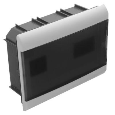 Caja para térmicas embutir 12 polos puerta Fume