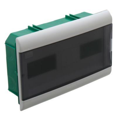 Caja para térmicas embutir 16 polos puerta Fume