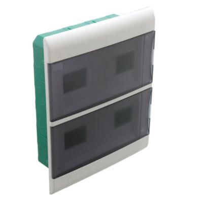 Caja para térmicas embutir 24 polos puerta Fume