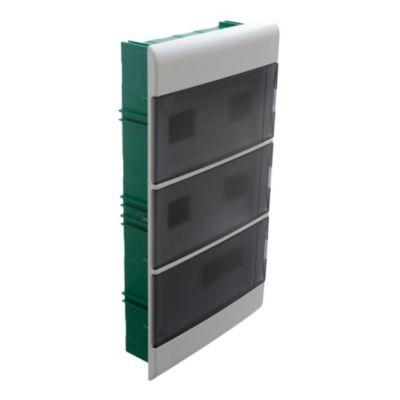 Caja para térmicas embutir 36 polos puerta Fume