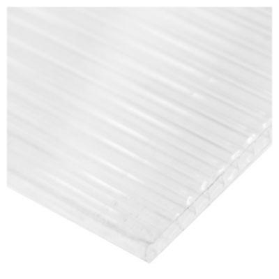 Placa de policarbonato alveolor 4 mm Cristal