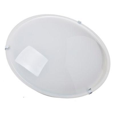 Plafón redondo de policarbonato 25 cm 2 luces E27