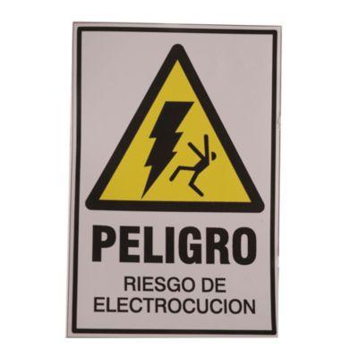 Calco 10 x 15 cm riesgo eléctrico