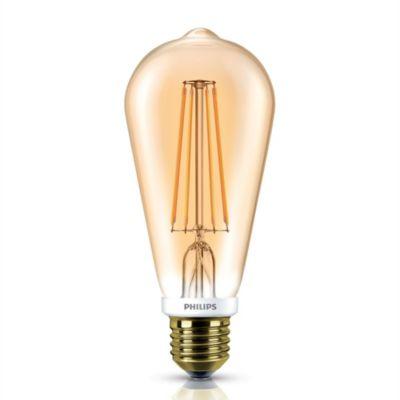 LED fila diminicente Gold 50 W E 27 cálida
