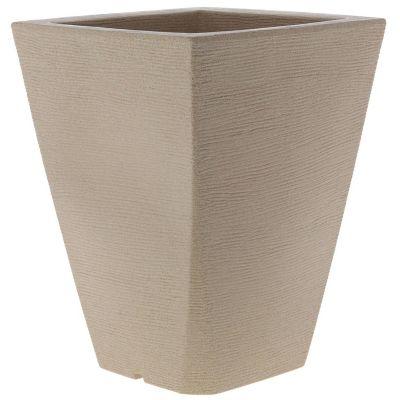 Maceta piramidal de plástico gris