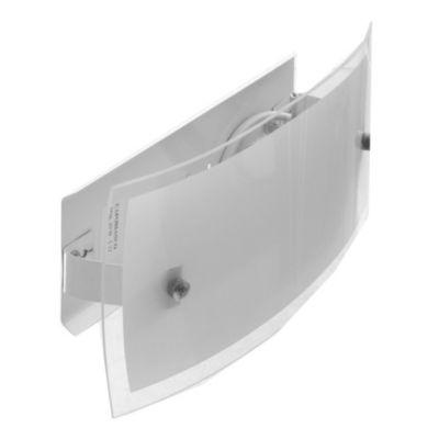 Aplique de vidrio plano Lisboa 1 luz E27