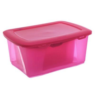 Set de 3 cajas multiuso rosa de 12 - 6 - 2,5 l
