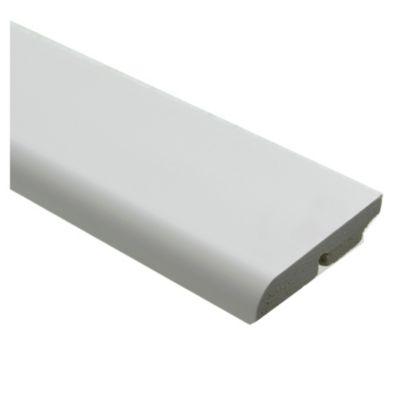 Zócalo PVC blanco 1,5 x 7 x 240 cm