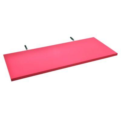 Estante de melamina flotante rosa 60 x 25 x 1,5 cm