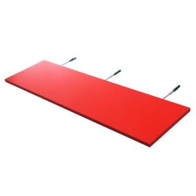 Estante de melamina flotante rojo 90 x 25 x 1,5 cm