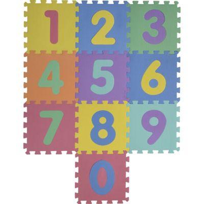 Alfombra puzzle números 30 x 30 cm 10 piezas