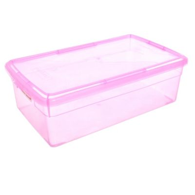 Caja plástica Duralux 5 l color rosa