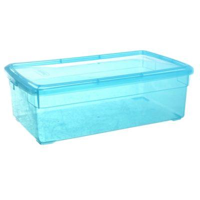 Caja plástica Duralux 10 l color turquesa
