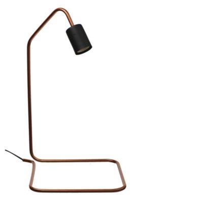 Velador Base Cuadrada color cobre
