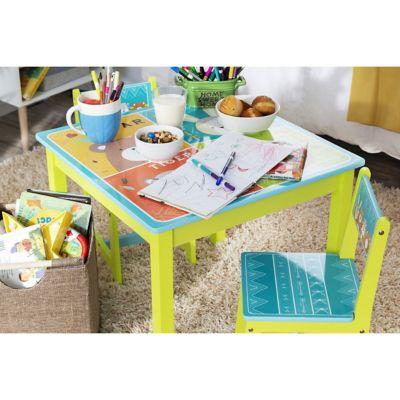 Set de mesa con sillas infantiles Zoo 59 x 59 x 50 cm