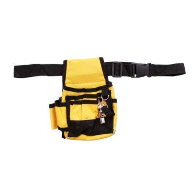 Cinturón con 6 bolsillos de tela