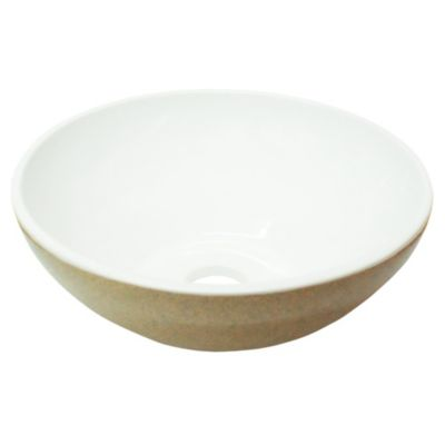 Bacha Sofy beige jaspeado con blanco