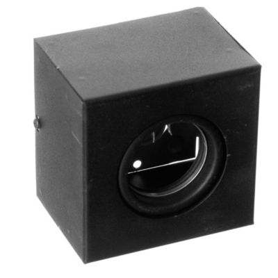 Plafón cuadrado móvil 10x10 cm 1 luz GU10 Negro