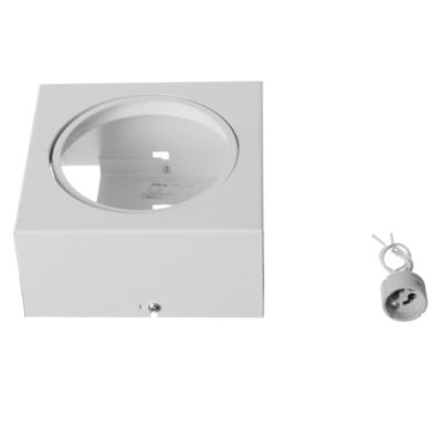 Plafón cuadrado móvil 1 luz AR111 Blanco