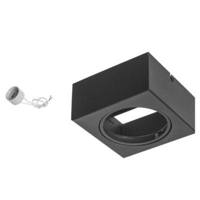 Plafón cuadrado móvil 1 luz AR111 Negro