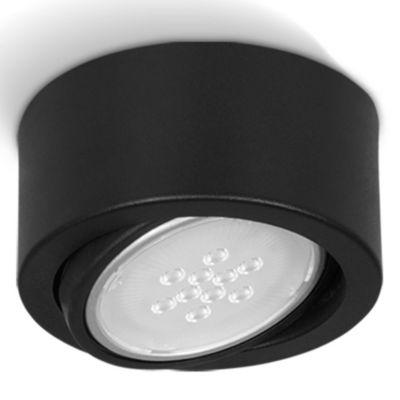 Plafón redondo móvil 1 luz AR 111 Negro